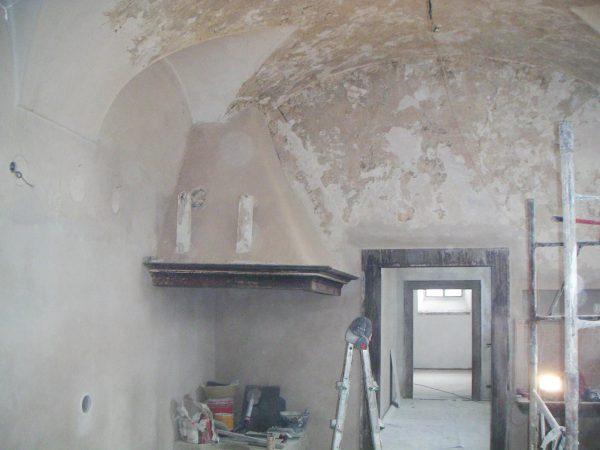 Risanamento muri e legni casa del '700